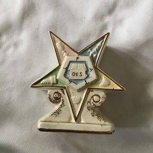 Vintage Eastern Star Shriners Masons Figural Plant
